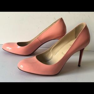 CHRISTIAN LOUBOUTIN FIFI PINK PATENT LEATHER PUMPS